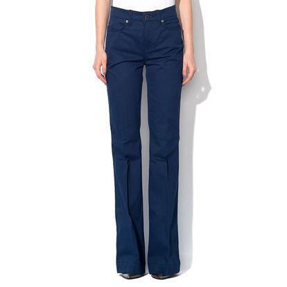Dámské modré kalhoty s puky Roccobarocco
