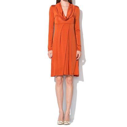 Dámské tmavě oranžové šaty Roccobarocco