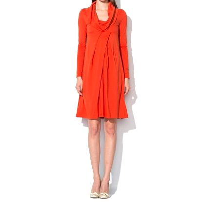 Dámské oranžové šaty Roccobarocco