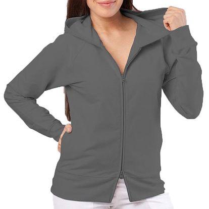 Dámská antracitová mikina s kapucí YU Feelwear