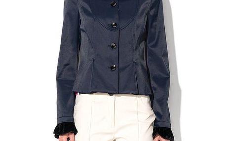 Dámský krátký tmavě modrý kabátek Roccobarocco