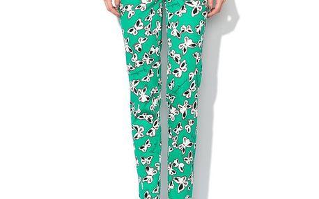 Dámské zelené kalhoty s motýlky Roccobarocco