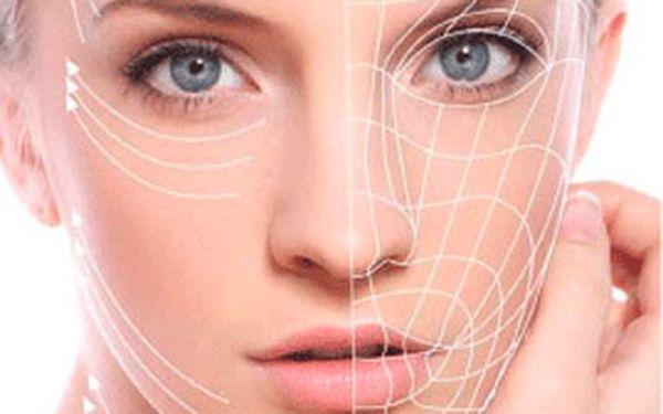 Bezbolestné intenzivní hodinové omlazující ošetření obličeje radiofrekvencí a fototerapií.