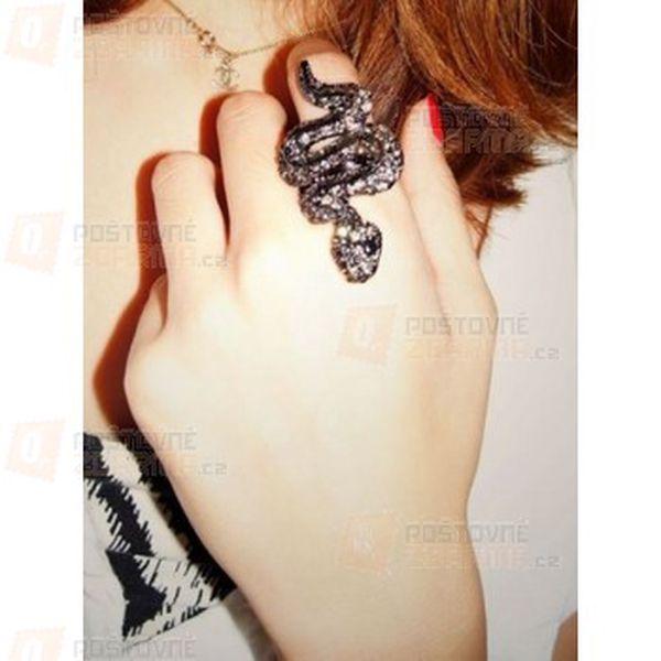 Luxusní prstýnek s motivem hada a poštovné ZDARMA! - 16108331
