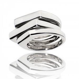 Dámský vrstvený stříbrný prsten Bague a Dames
