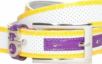 Dámský bílý pásek Roccobarocco s barevnými detaily
