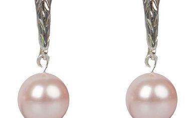 Dámské růžové perlové náušnice Royal Adamas