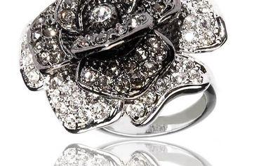 Dámský stříbrný prsten Bague a Dames s růží