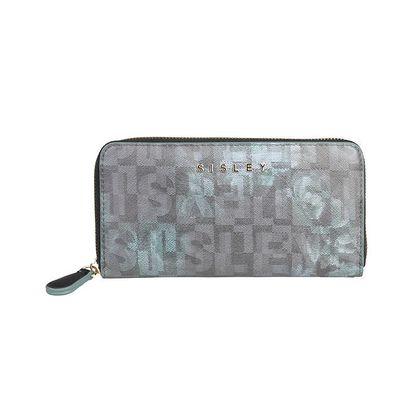Dámská podlouhlá mentolovo-černá peněženka Sisley