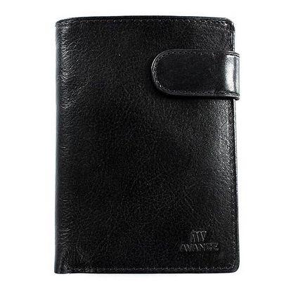 Černá kožená peněženka Menbur se zipem
