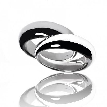 Dva stříbrné prsteny Bague a Dames