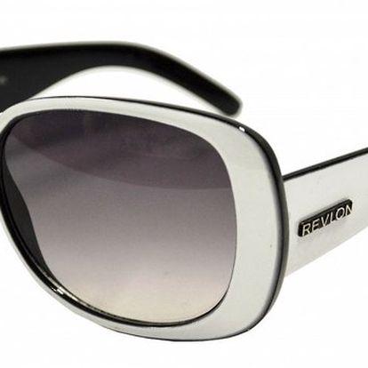 Dámské bílo-černé sluneční brýle Revlon