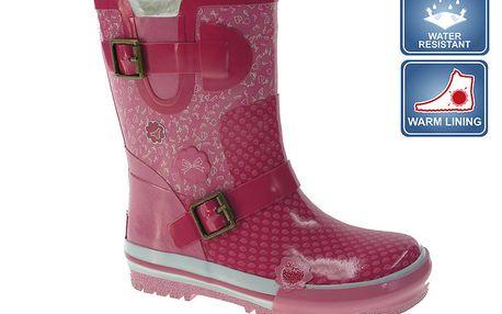 Dívčí růžové holinky Beppi s přezkami