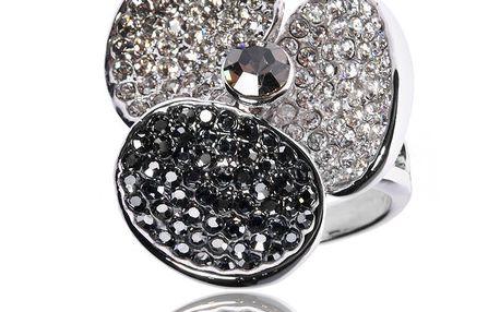 Dámský prsten Bague a Dames s černými a bílými kamínky