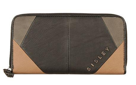 Dámská černo-béžová peněženka Sisley