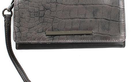 Dámská šedo-černá peněženka s poutkem Sisley