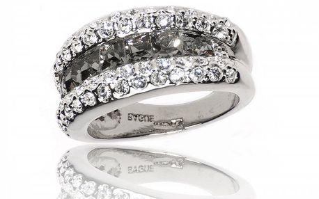 Dámský stříbrný prsten Bague a Dames s krystaly