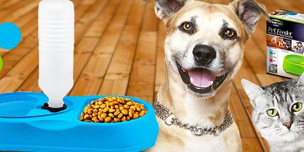 Chytrá miska pro psy a kočky: láhev automaticky doplňuje vodu, 3 barvy.