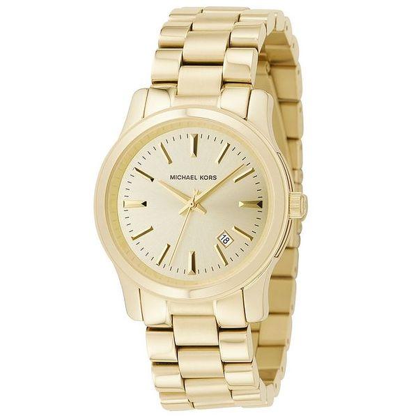 Dámské pozlacené hodinky v jednoduchém designu Michael Kors