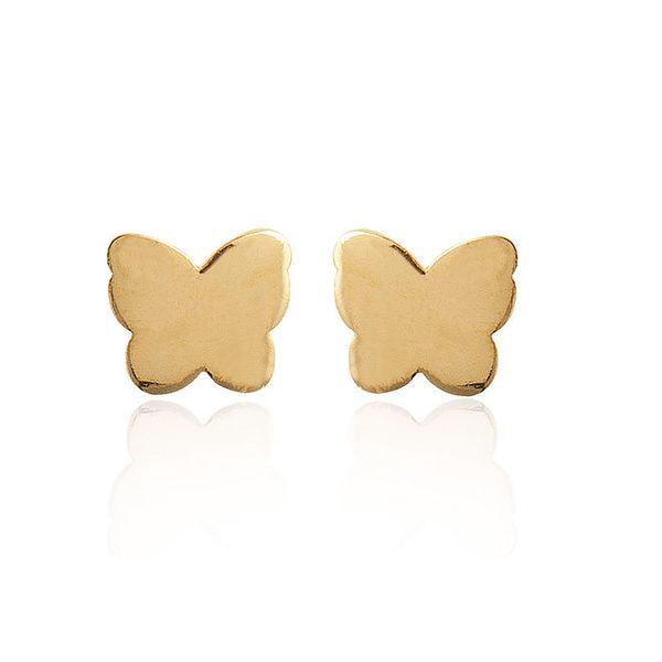 Dámské náušnice zlatí motýlci La Mimossa