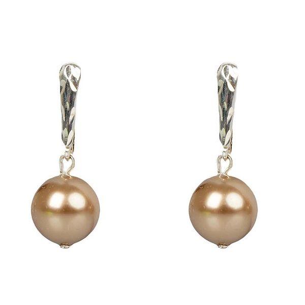 Dámské bronzové perlové náušnice Royal Adamas