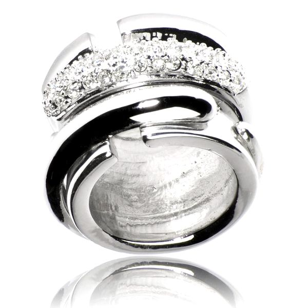 Dámský stříbrný prsten Bague a Dames se zirkony