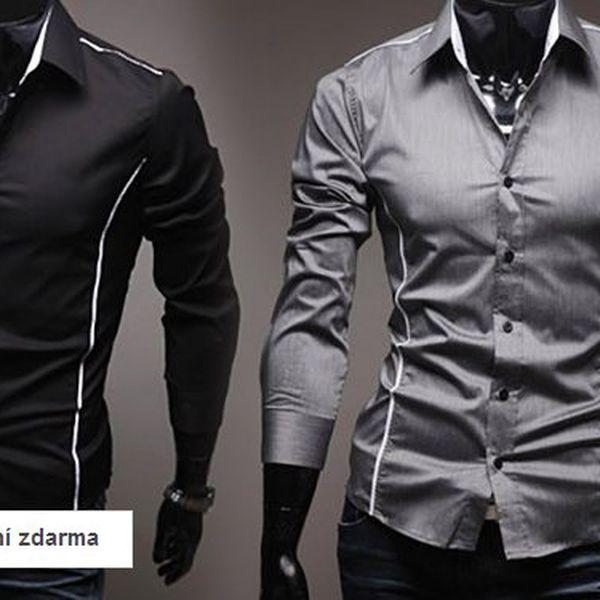 Pánská módní košile Slim Fit