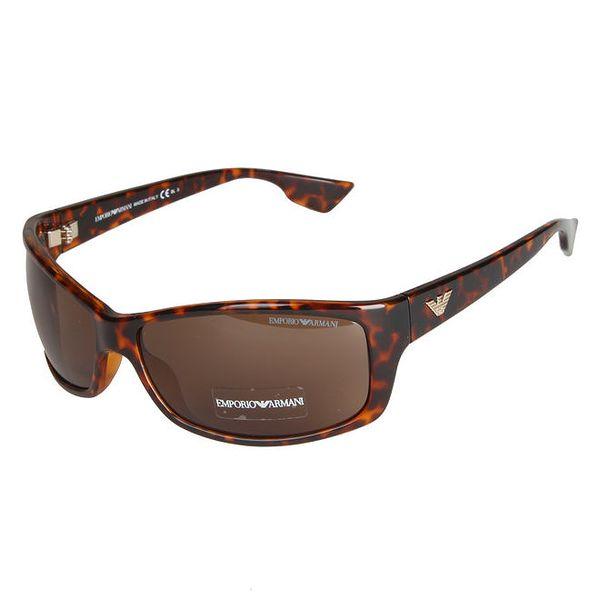 Hnědé leopardí sluneční brýle Emporio Armani