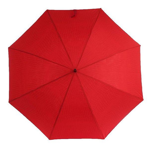 Dámský rudý deštník s vzorovaným vnitřkem Ferré Milano
