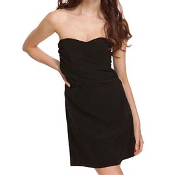 Dámské černé šaty bez ramínek Liquorish