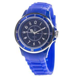Dámské modré analogové hodinky s luminiscenčními ručičkami Senwatch