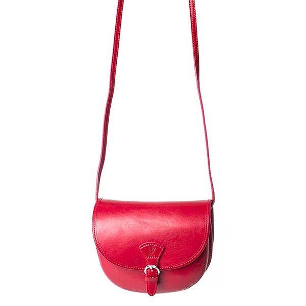 Dámská červená kabelka z hladké kůže Pelleteria