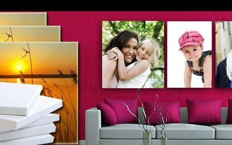 Tisk vlastní FOTOGRAFIE NA PLÁTNO napnuté na dřevěný rám, s možností výběru z 5 rozměrů, se slevou až 54 %: Dekorujte svůj byt či kancelář osobitými obrazy a vytvořte si z interiéru galerii nádherných vzpomínek.