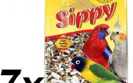 Akinu Sippy deluxe pro malé a střední papoušky 7 x 450g
