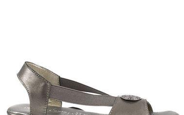 Dámské šedé kožené sandály Bel Canto