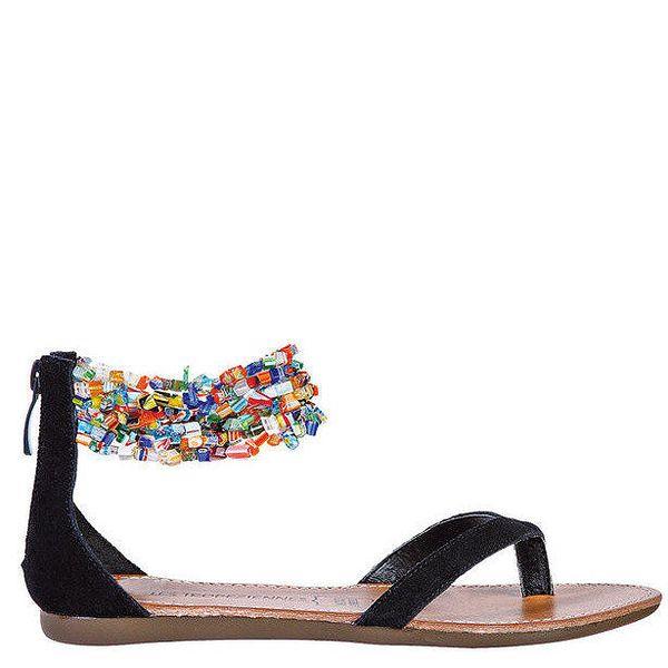 Dámské černé sandálky s korálky Les Tropeziennes