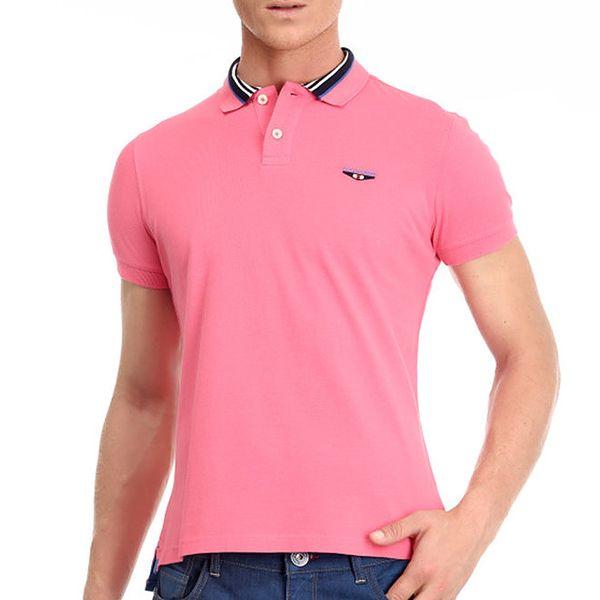 Pánské růžové polo tričko Galvanni