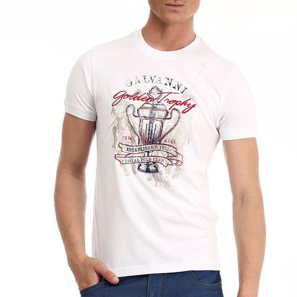 Pánské bílé tričko s potiskem Galvanni