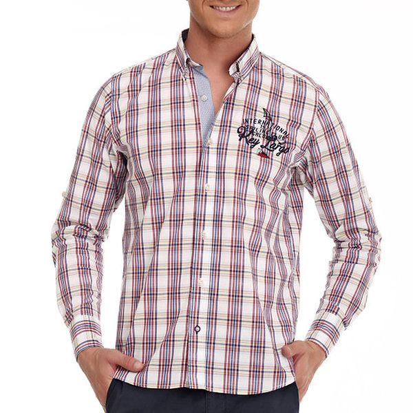 Pánská barevná károvaná košile Galvanni