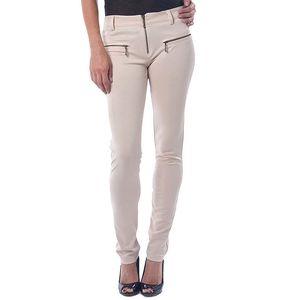 Dámské krémové kalhoty se zipy Seven LA