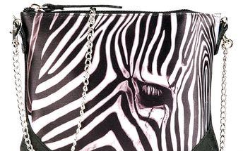 Dámská kabelka s potiskem zebry Seven LA