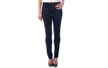 Dámské černé kalhoty se zipy Seven LA