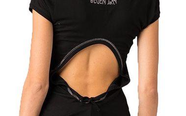 Dámské černé tričko s průstřihem na zádech Seven LA