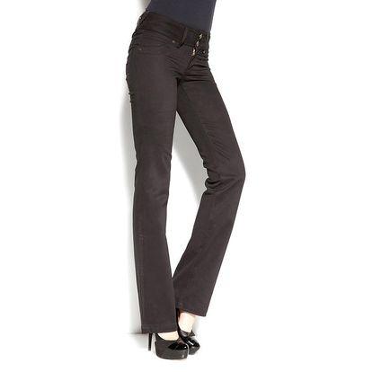 Dámské černé kalhoty se dvěma knoflíčky Seven LA