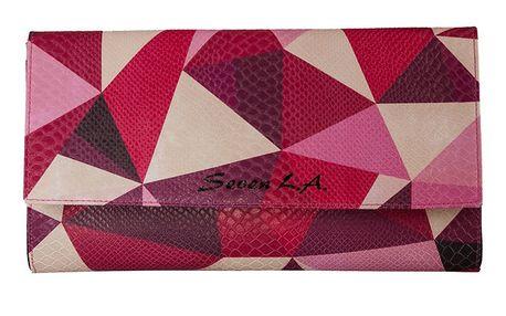 Dámské psaníčko s růžovým geometrickým motivem Seven LA