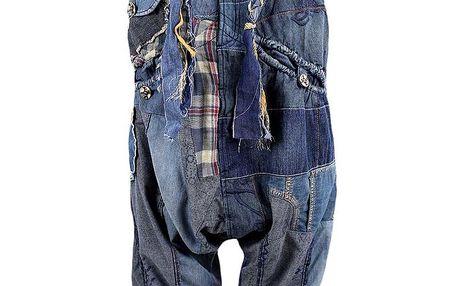 Dámské 3/4 sešívané denimové kalhoty Desigual
