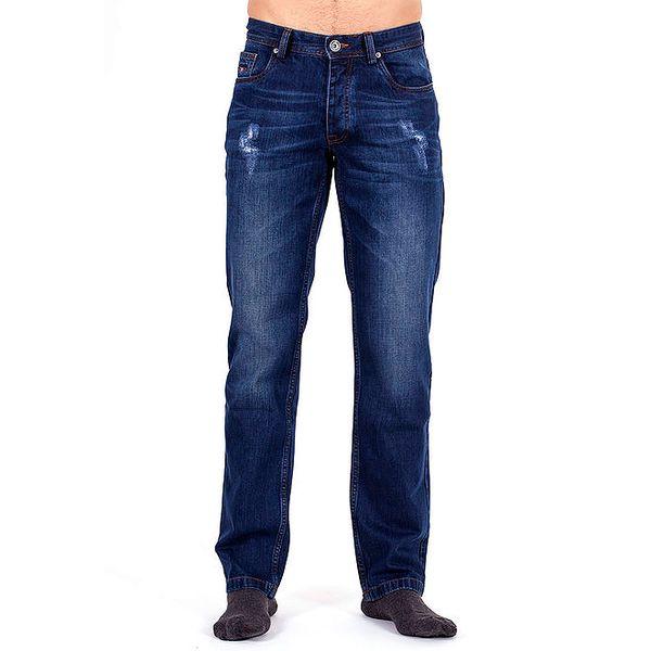 Pánské modré džíny s prodřeninami Galvanni
