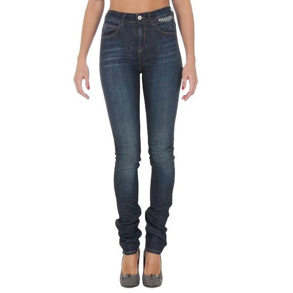 Dámské úzké modré džíny vyššího střihu Tommy Hilfiger
