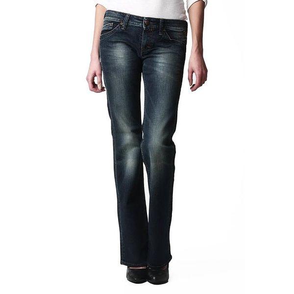 Dámské rovné tmavé džíny s šisováním Replay