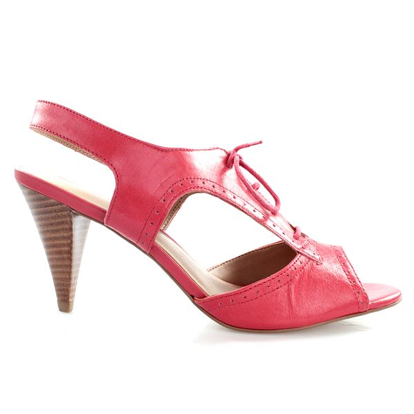 Dámské kožené šněrovací boty v barvě cherry Via Uno